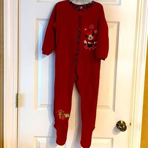 Disney Holiday Fleece pajama onesie size 3 years